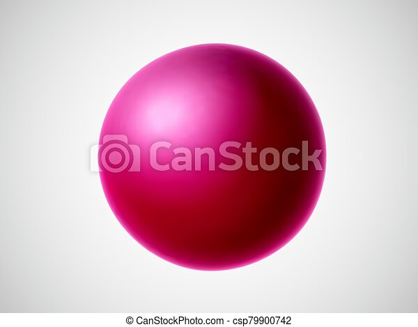 3D red ball isolated on white background. - csp79900742