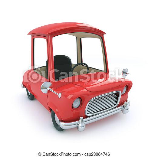 3d Red cartoon car - csp23084746