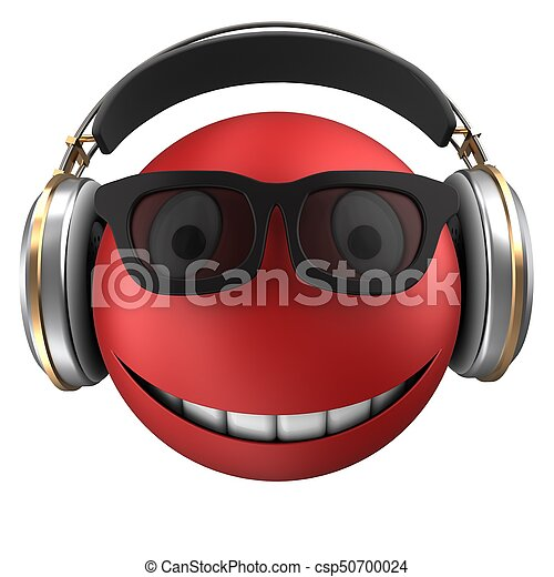 3d red emoticon smile - csp50700024