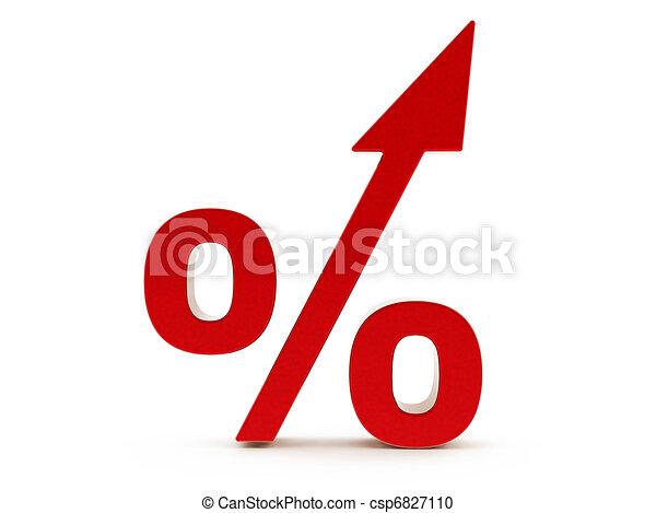3d Red Percent increase - csp6827110