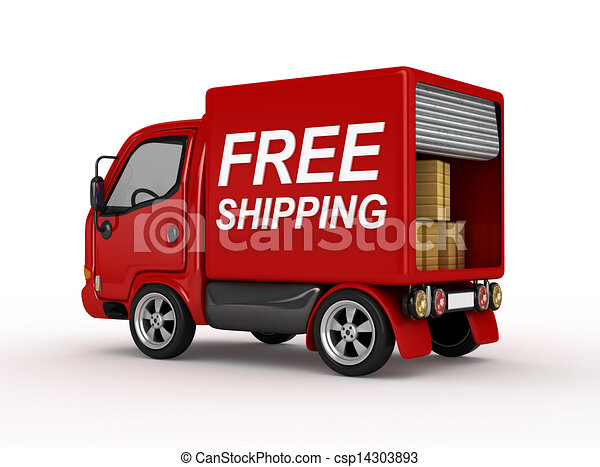 3D Red Van with Free Shipping - csp14303893