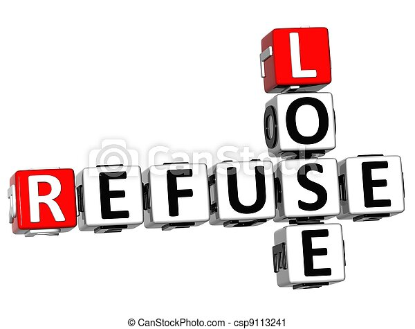 3D Refuse to Lose Crossword text - csp9113241