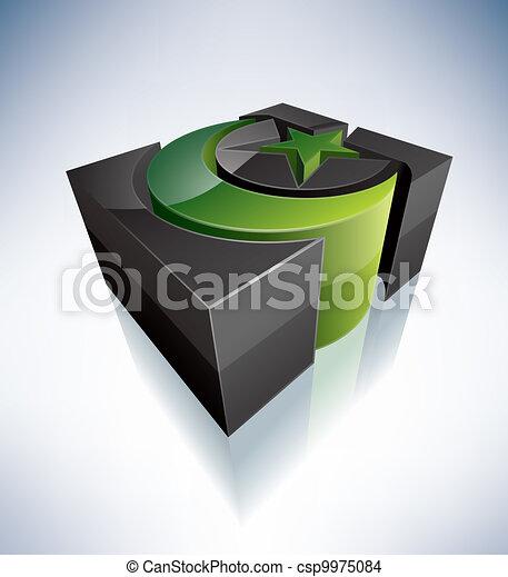 3D Religion: Islam - csp9975084