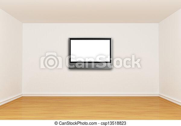 3d render empty room - csp13518823