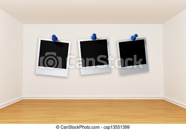 3d render empty room - csp13551399