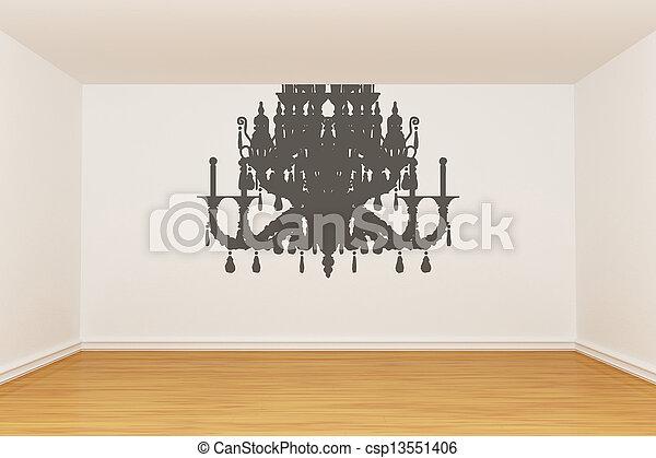 3d render empty room - csp13551406