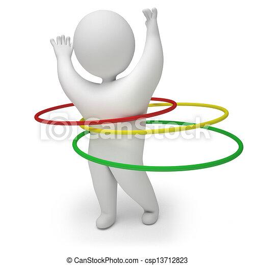 3d render hula hoop - csp13712823