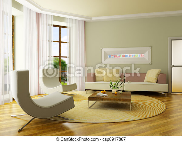 3D render interior - csp0917867