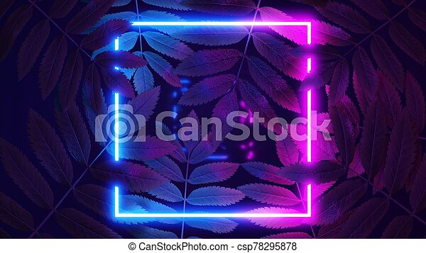 3d Render Neon Square In Tropical Leaves Nature In Bright Neon Colors Canstock Check out our tropical neon leaves selection for the very best in unique or custom, handmade pieces from our there are 535 tropical neon leaves for sale on etsy, and they cost $16.12 on average. https www canstockphoto com 3d render neon square in tropical 78295878 html