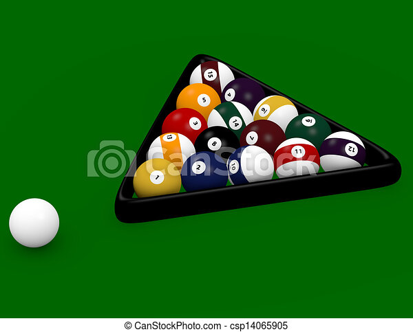 3d Render Of An 8 Ball Pool Game