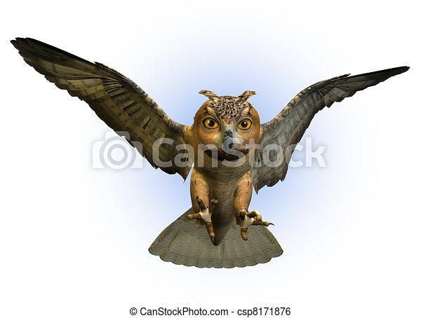 Stock Illustration  Eagle owl Clip Art gg60826628  GoGraph