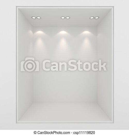 3d render of an empty presentation showase - csp11119820
