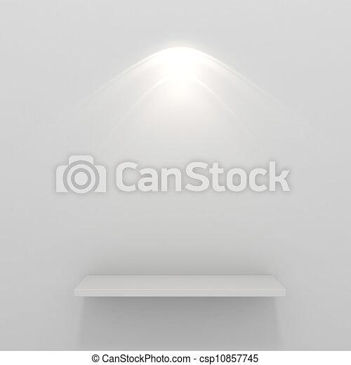 3d render of an empty presentation showase - csp10857745