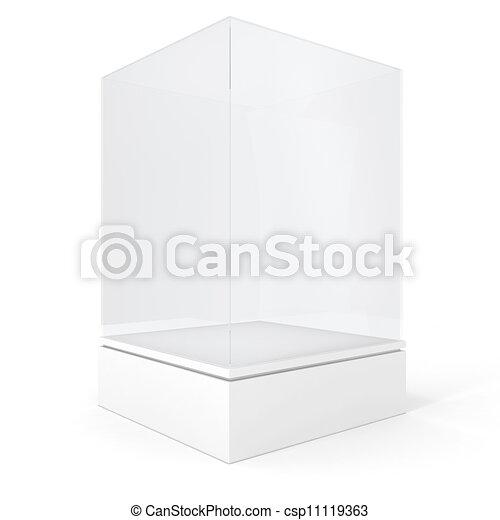 3d render of an empty presentation showase - csp11119363