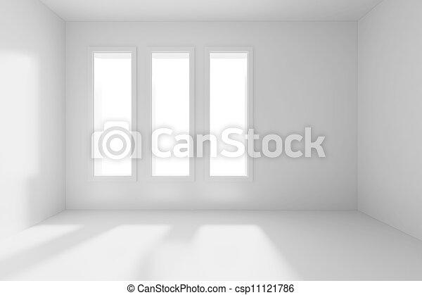 3d render of an empty room - csp11121786