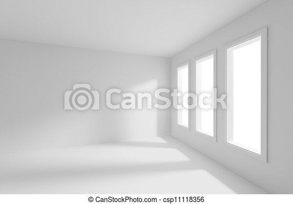 3d render of an empty room - csp11118356