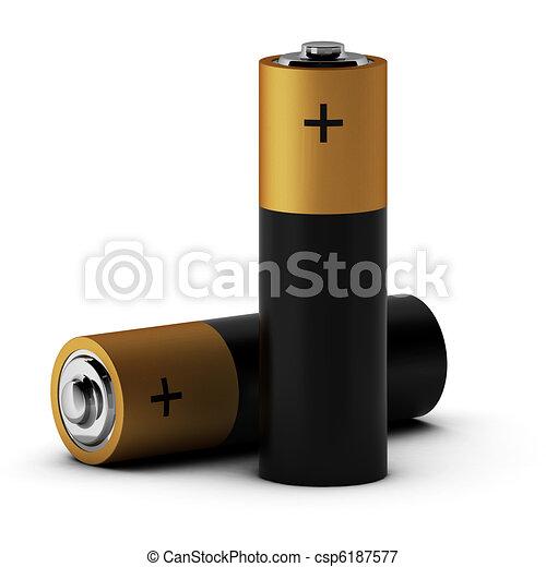 3d render of batteries - csp6187577