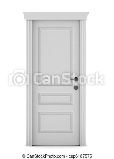 3d render of door - csp6187575