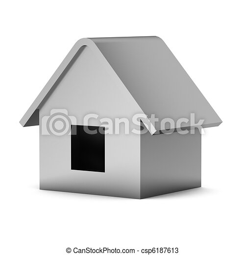 3d render of house - csp6187613