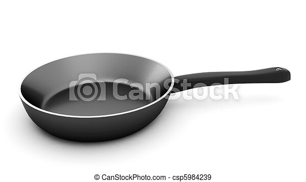 3d render of pan on white background - csp5984239