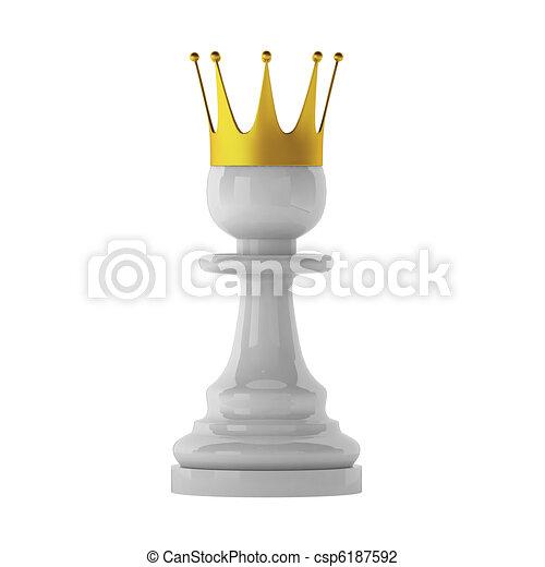 3d render of pawn - csp6187592