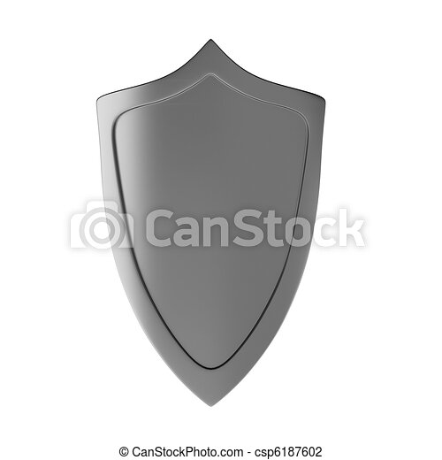3d render of shield - csp6187602