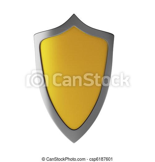 3d render of shield - csp6187601