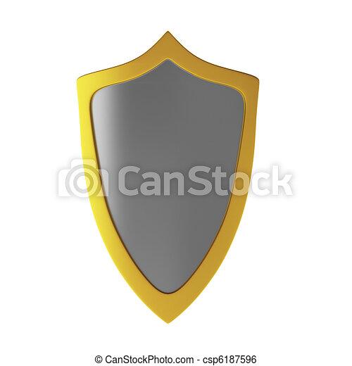3d render of shield - csp6187596