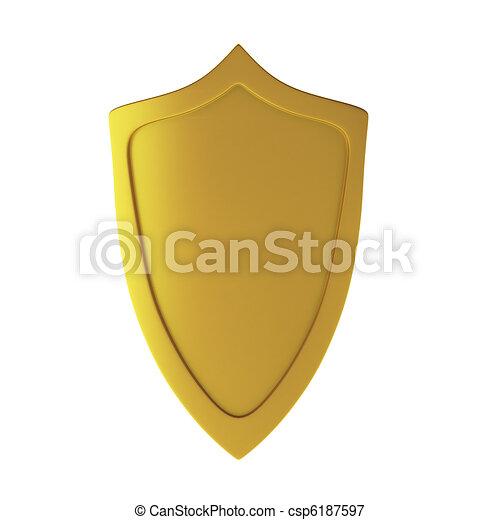 3d render of shield - csp6187597