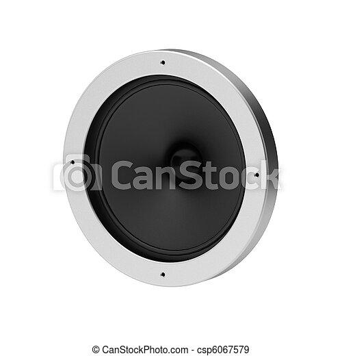 3d render of speaker on white - csp6067579