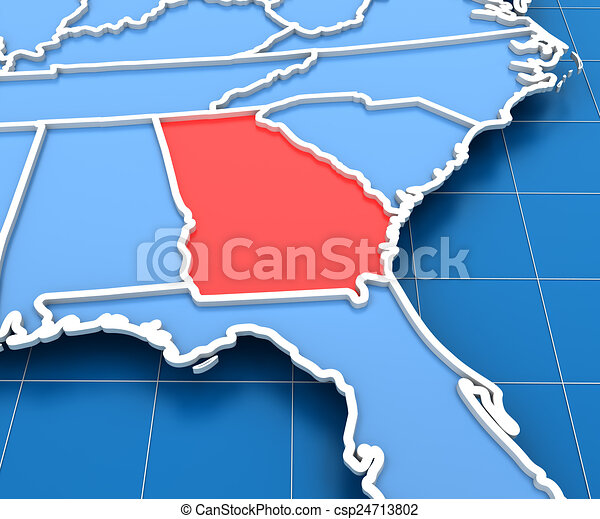 3d render of USA map with Georgia state highlighted on iowa map usa, michigan map usa, yale map usa, evansville map usa, akron map usa, houston map usa, indiana map usa, oklahoma map usa, connecticut map usa, alabama map usa, columbia map usa, wisconsin map usa, minnesota map usa, mississippi map usa, colorado map usa, missouri map usa, kentucky map usa, california map usa, nebraska map usa, tulsa map usa,