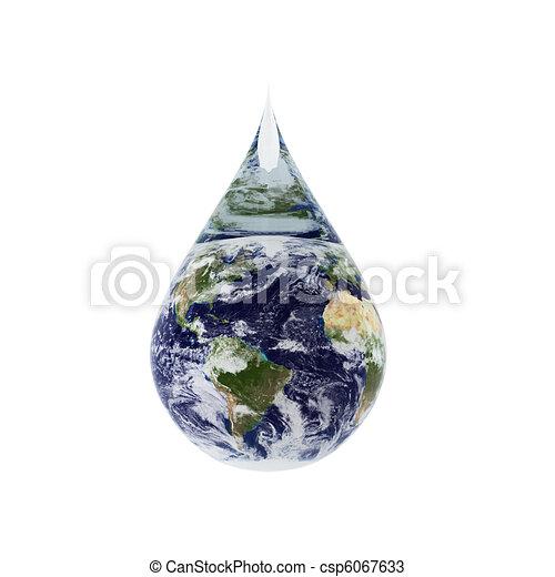 3d render of water drop - csp6067633