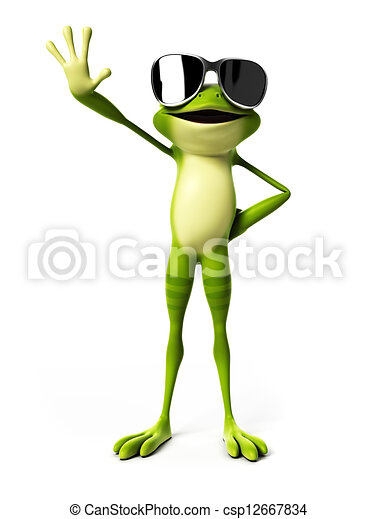 3d rendered illustration of a funny frog - csp12667834