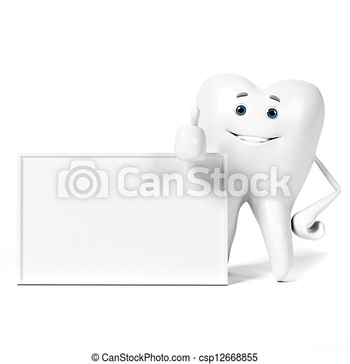 3d rendered illustration of a tooth character - csp12668855