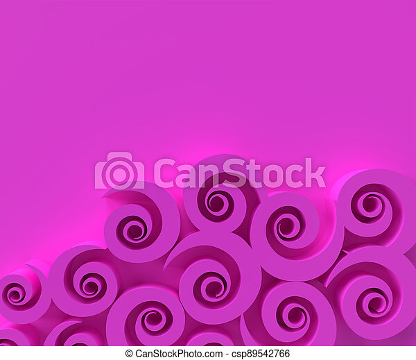 3D rendering abstract background with  Swirl Waves Pattern. Creative Architectural Concept. - csp89542766