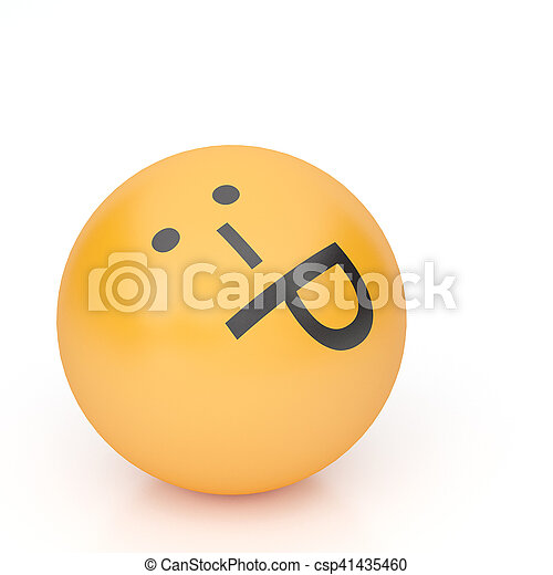 3d rendering background of emoticons - csp41435460