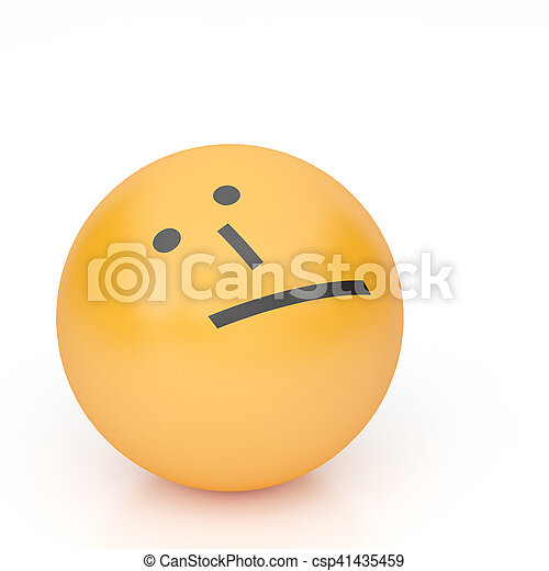 3d rendering background of emoticons - csp41435459