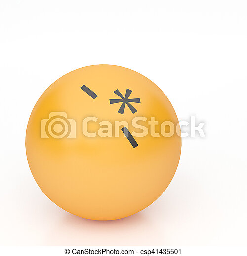 3d rendering background of emoticons - csp41435501