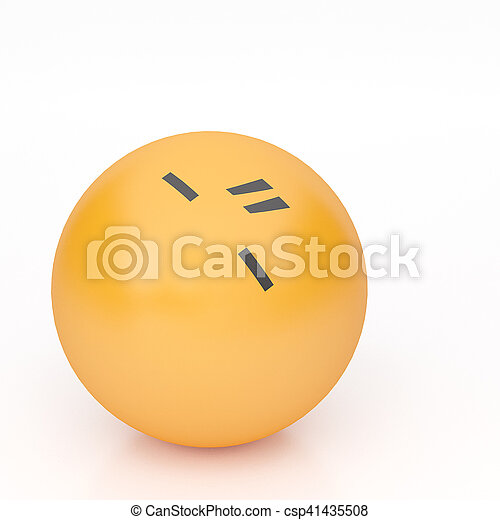 3d rendering background of emoticons - csp41435508