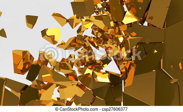 3d rendering destruction of wall - csp27606377