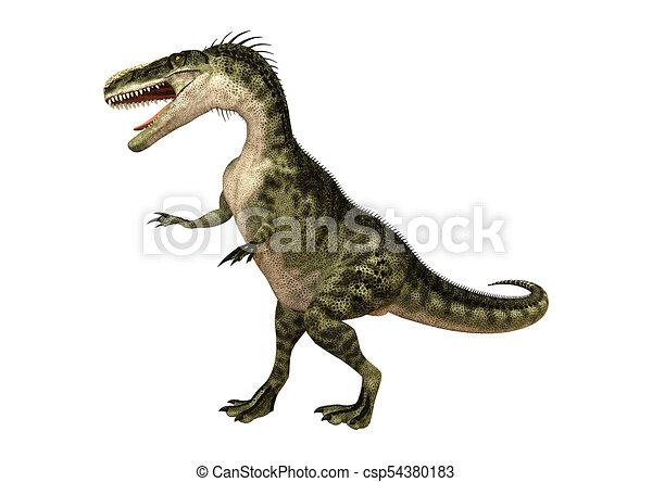 3D Rendering Dinosaur Monolophosaurus on White - csp54380183