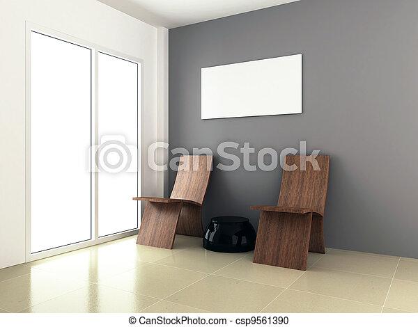 3d rendering for room interior design - csp9561390