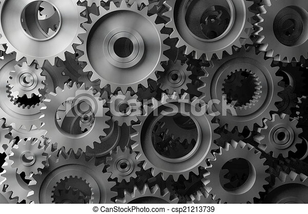 3d rendering Gears Background - csp21213739