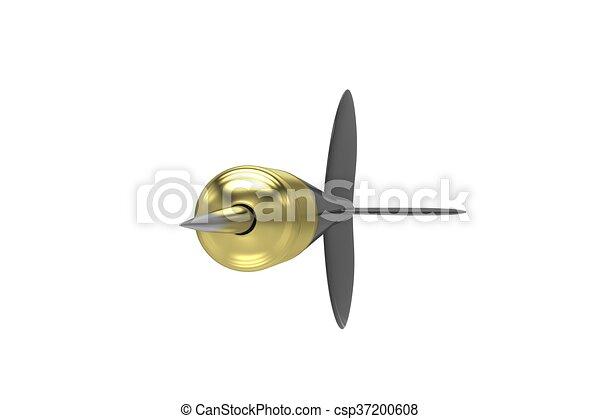 3d, rendering., isolato, white., freccetta - csp37200608