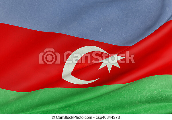 3d rendering of a Azerbaijan flag - csp40844373