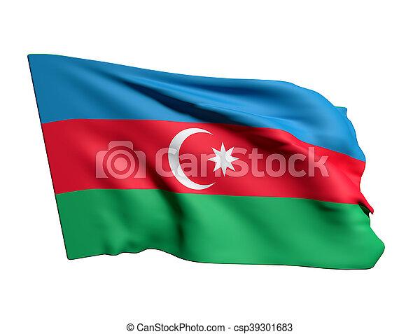 3d rendering of a Azerbaijan flag - csp39301683