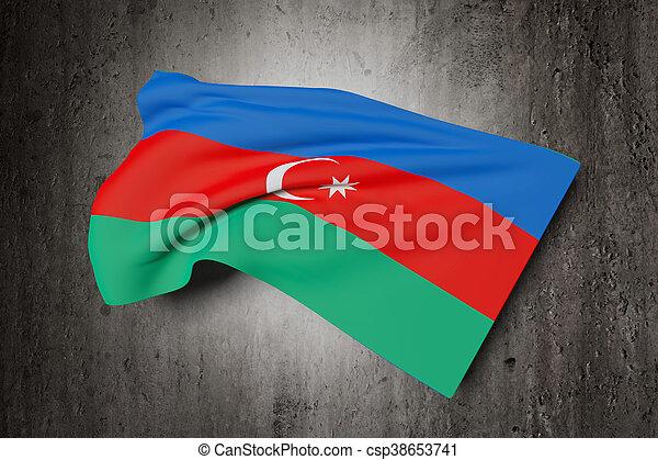 3d rendering of a Azerbaijan flag - csp38653741