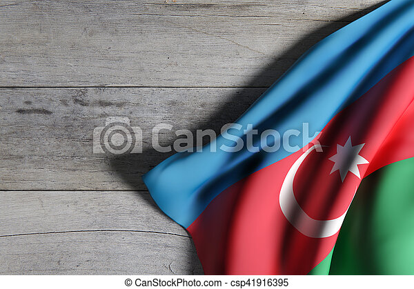 3d rendering of a Azerbaijan flag - csp41916395