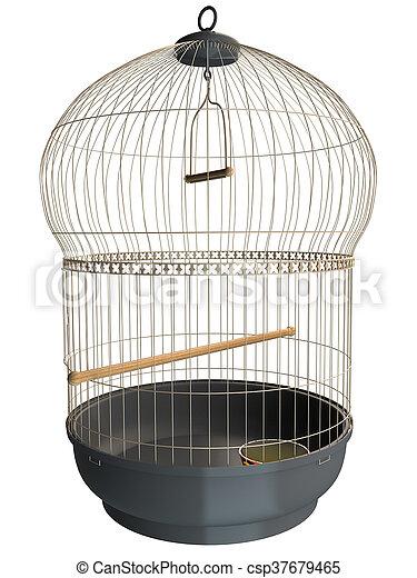 3D rendering of a birdcage - csp37679465