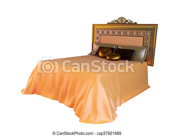 3D rendering of a classic bed - csp37921689